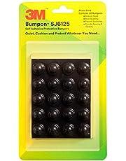 3MBumpon Sj6125 Self Adhesive/Anti-Skid Protective/Noise Reducing Bumpers - (20 Pcs, Black, Round)