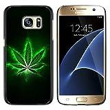 Graphic4You Marihuana Cannabis Hanf Blatt Raucher Design Harte Dünn Hülle Tasche Schale Schutzhülle für Samsung Galaxy S7