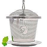 wellvary Premium Edelstahl Teeei | hochwertiges Teesieb & Teefilter | Teekugel für losen Tee | 1 Stück im edlem Velours Beutel