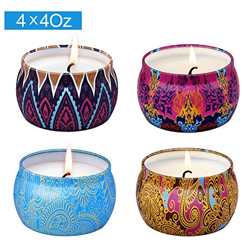 Lot 4 bougies parfumées