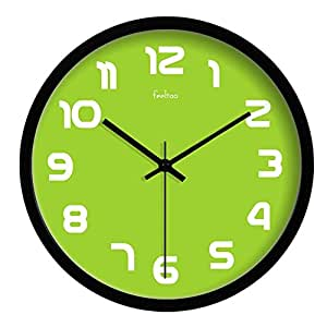 Modern Colorful Super Silent Wall Clocks Non Ticking Quiet Sweep Decorative Clocks For Living