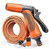 YCGDZ Hochdruck Wasserpistole Düse Schlauch Set Werkzeug Hausgarten Bewässerung Reinigung Einstellbare Spray (größe : 20m)