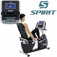 Spirit Fitness Bike XBR 25 - cyclette, bicicletta reclinata, ergometro, 6 programmi, 9kg volano, 7,5`` LCD