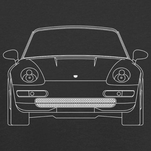 Porsche 993 Vorderansicht - Herren T-Shirt - 13 Farben Schwarz