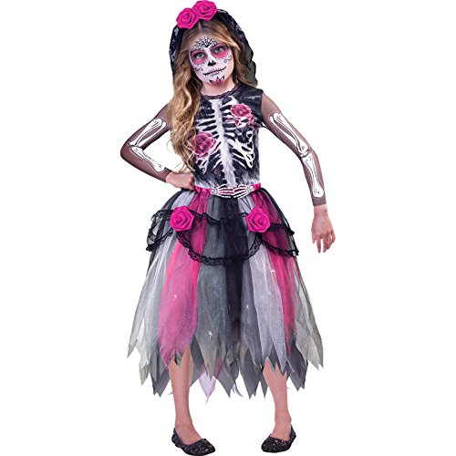 Tag der Toten Braut - Tag der Toten Halloween Kostüm Kinder Mädchen Amscan