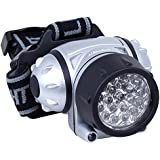 Daffodil LEC005, Daffodil LEC005 - LED HEAD TORCH/​LIGHT WITH ADJUSTABLE BRIGHTNESS and Flexible Tilt Angle - 4 Brightness Levels - ideal for cycling, running, Camping, Powered by 3x AAA Batteries (Not Included) (DIY & Tools)