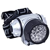 Daffodil LEC005 LED head torch with adjustable brightness and flexible tilt angle, 4 brightness levels, ideal for cycling, jogging, camping, operated by 3x AAA batteries (not included)
