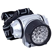 Daffodil LEC005 - LED Headlight with Adjustable Brightness - High performance LED Head Lamp with Flexible Bands and Angles - 4 Light Modes with Flash Light - Perfect for Cycling, Climbing, Mountain Biking, Camping - Battery (3xAAA Not Include...