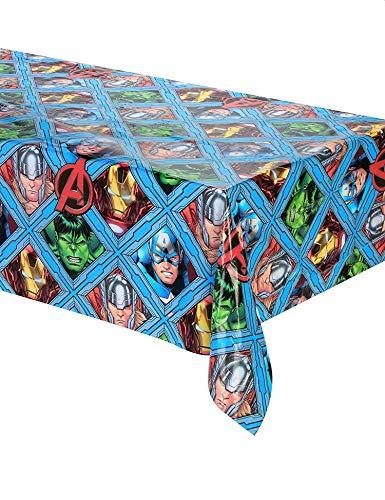 Procos mantel plástico 120x 180cm Avengers Mighty, Multicolor, 5pr87968