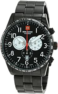 Swiss Military Herren-Armbanduhr XL Red Star Analog Edelstahl 06-5R4-13-007