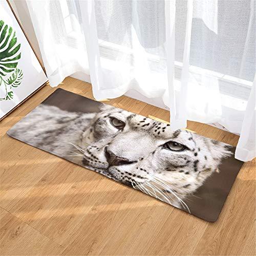 LZYMLG Bad Teppich Küche Wasserdicht rutschfeste Decke Tiermuster Teppich Kreative Fußmatte A_10 50X80Cm