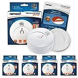 Nemaxx SP5Detector de humo NF–Calidad Detector–Detector de Fuego Certificado Din En 14604y NF Certificado–Color Blanco, SP5NX