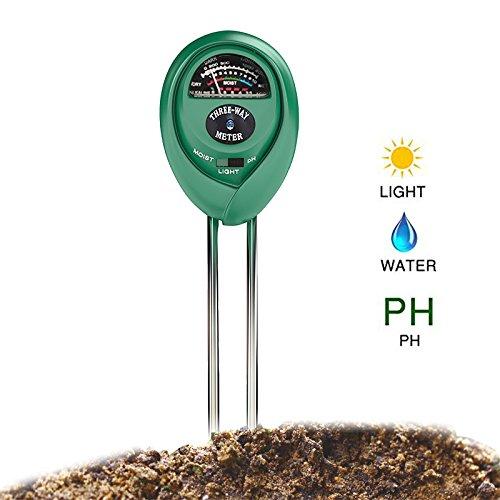 OBEST NIU 3-in-1 Bodentester,digitales Bodenmessgerät Lichtstärke Meter Pflanze Tester, Boden-pH und Feuchte für Gartenbau, Pflanzen Wachstum, Rasenpflege (keine Batterie erforderlich)