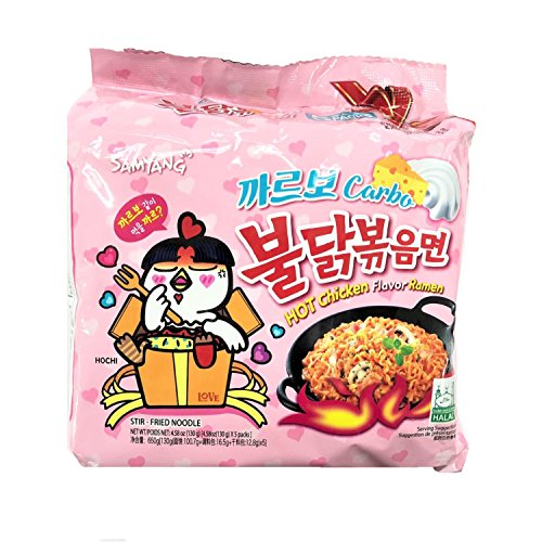 Samyang Hot Chicken Flavour Ramen Carbonara (Limited Edition) 130g (Pack of 5)
