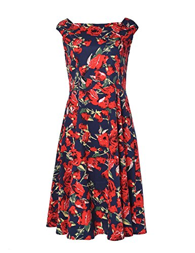Blooming Jelly - Robe - À Fleurs - Femme Rouge