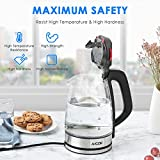 from Aicok Aicok Glass Kettle Electric 3000W Fast Heating Kettles Electric, 1.7L IlluminatingLED Cordless Glass Jug Kettle, BPA-Free