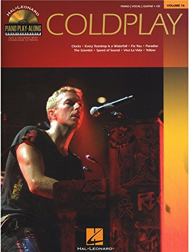 Piano Play-Along Volume 16: Coldplay. Partitions, CD pour Piano, Chant et Guitare