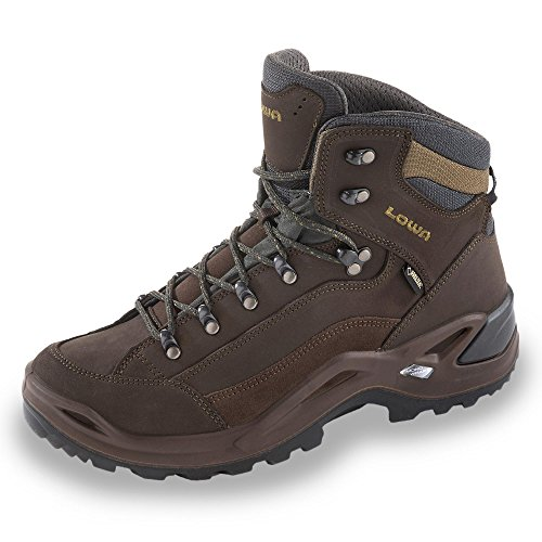 Lowa Renegade Gtx Mid, Chaussures d'Escalade Homme Schiefer/Oliv
