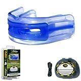 Brain-Pad LoPro+Protège-dents/jointure des deux mâchoires, double gouttière - Bleu/Clair, taille2