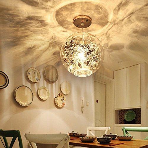 GQLB Kronleuchter aus Glas Wohnzimmer Light Bar Lights, 270 * 245 Mm, Lampen Kunst Wohnzimmer Gold) - warmes Licht - Schnitt Glas Tönen