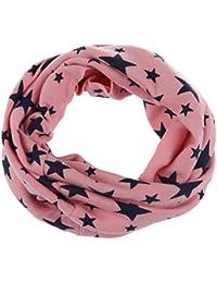 Schal - SODIAL(R)Unisex Babys Schleife Umschlagtuch fuenfzackigen Stern gestrickte Umschlagtuch Winter Schal Snood Hals Waermer rosa