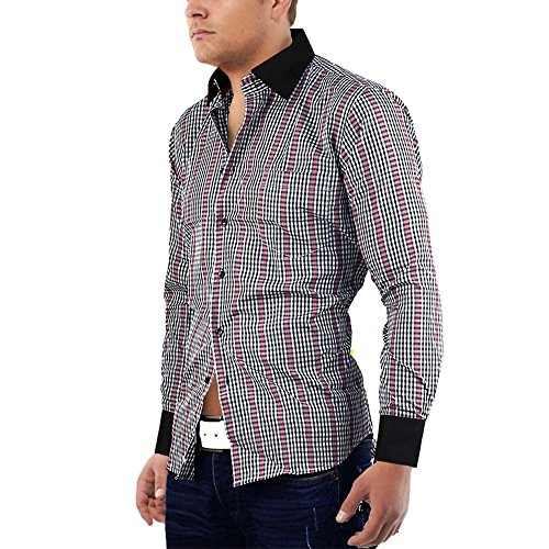 Herren Hemd ID625 Slim Fit Schwarz