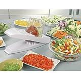 Wonder Magic–Cortador de verduras con hoja de acero inoxidable para picar y cortar rápida y...