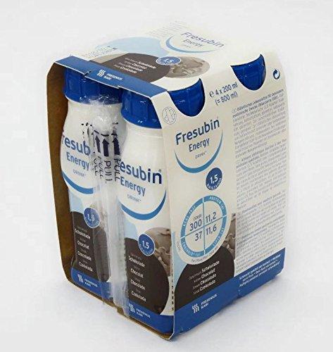 FRESUBIN Energy Drink, 300kcal pro Trinkflasche, 6 x 4 x 200ml (Schokolade)