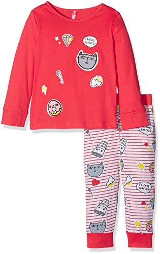 Lina Pink Mädchen Sportswear-Set BF.Patch.PL.MZ Rouge/Gris Chiné, 6 Jahre