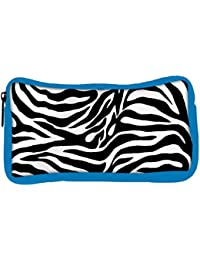 Snoogg Eco Friendly Canvas Zebra Skin Designer Student Pen Pencil Case Coin Purse Pouch Cosmetic Makeup Bag