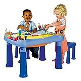 KETER M675 - Kreativ-Spieltisch mit 2 Hockern zum Aufbewahren von