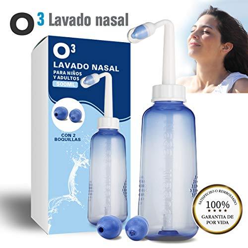 O³ Lavado Nasal 500 ml Con 2 Boquillas Para Bebes