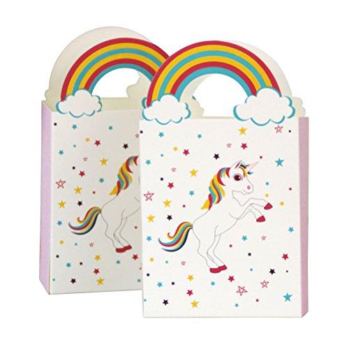 inhorn Papiertüten mit Regenbogen Griff Geschenk Taschen Süßigkeiten Taschen Geschenkboxen für Kinder Geburtstag Einhorn Partei Liefert Bevorzugung Dekorationen ()