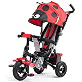 Children's bike Trolley, Kinderwagen, Baby Fahrrad, Neue Kinder Dreirad, Karikatur Freie aufblasbare Rad (Farbe : Rot)