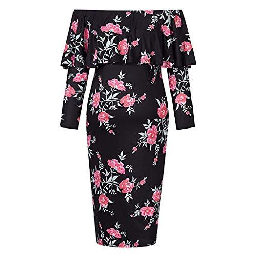Tianya Umstandskleid, Fancy Womens Umstandskleid Schulter aus halben Ärmel lässig täglich Maxi ()