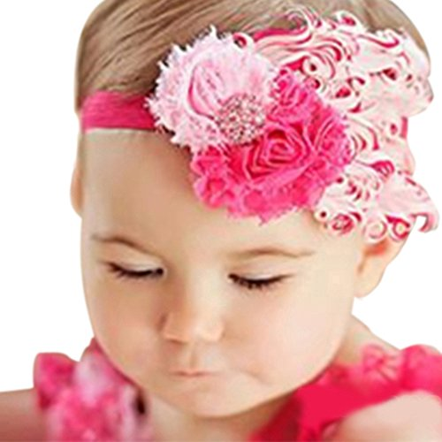 Baby Girls Lovely Feather Flower Headband Hair Band Headpiece Kids Infant (I) by Broadfashion