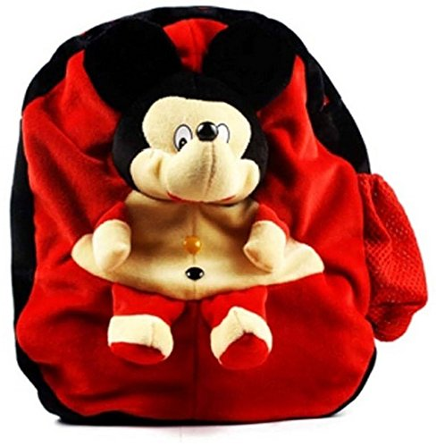 Richy Toys Micky Mouse Cute Teddy Soft Toy School Bag for kids, Travelling Bag, Carry Bag, Picnic Bag, Teddy Bag