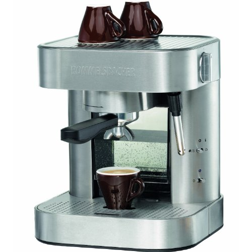 Rommelsbacher EKS 1500 - Cafetera (Independiente, Semi-automática, Espresso machine, Coffee pod, De café molido, Acero inoxidable, Café/Espresso)