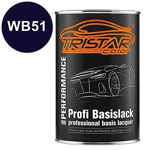 Blau, Metallic Autolack (Autolack Set Dose spritzfertig Bayerische Motoren Werke / BMW WB51 San Marino Blau Metallic Basislack 1,0 Liter 1000ml)