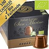 100 capsules de cafés labellisés Fairtrade et Bio compatibles avec Nespresso (Lot de dégustation de 100 capsules)