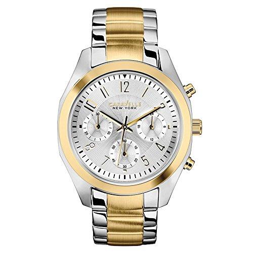 Caravelle New York 45L136 - Reloj  de Cuarzo para Mujer, correa de Acero inoxidable color Bicolor