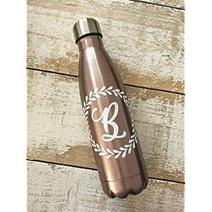 Personalisierte Roségold flasche mit Name