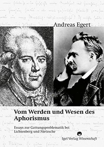 Vom Werden und Wesen des Aphorismus. (Literatur- und Medienwissenschaft) by Andreas Egert (2005-09-15)
