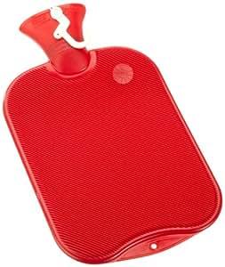 Fashy 6460 Thermoplast-Wärmflasche-Doppellamelle, 2,0 Liter, farblich sortiert