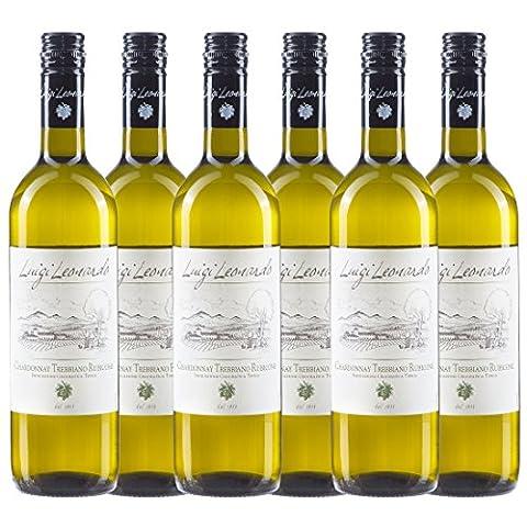 Luigi Leonardo Chardonnay Trebbiano Rubicone, italienischer Weißwein (6 x 0,75 l)