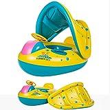 Olycism Baby Schwimmsitz Schwimmhilfe Schlauchboot Schwimmreifen mit Sonnendach