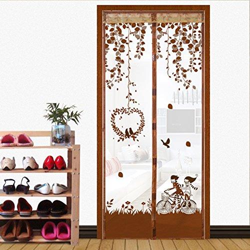Full-frame velcro Türen für häuser bildschirm,Türen mit magneten bildschirm Velcro magnetische tür siebgewebe Sommer] Abgeschnitten Der moskito Tür vorhang Bildschirm-F 120x220cm(47x87inch)