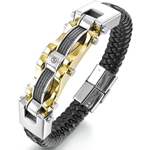adisaer-acier-inoxydable-gourmette-hommes-bracelet-charms-or-argent-biker-noir-cable-punk-rock-zirco