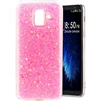 Funda Galaxy A6 2018, MeganStore Carcasa Suave Gel Silicona Diseño de Glitter Bling Brillante Trasera Acrilico TPU Funda para 5.6 pulgada Samsung Galaxy A6 2018