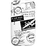 YEAH Traveler Postmark Protective Case for Samsung Galaxy S3(Easy to remove and put, Protects from Bumps and scratches), Black and White